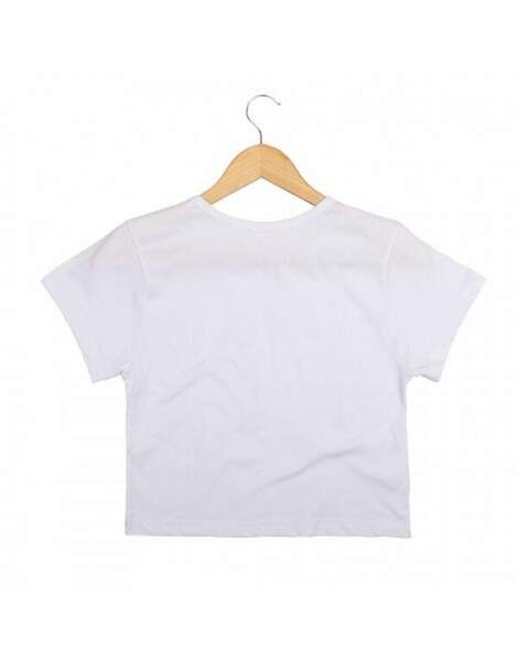 Blusa Cropped Morena Deluxe Rolling Branco