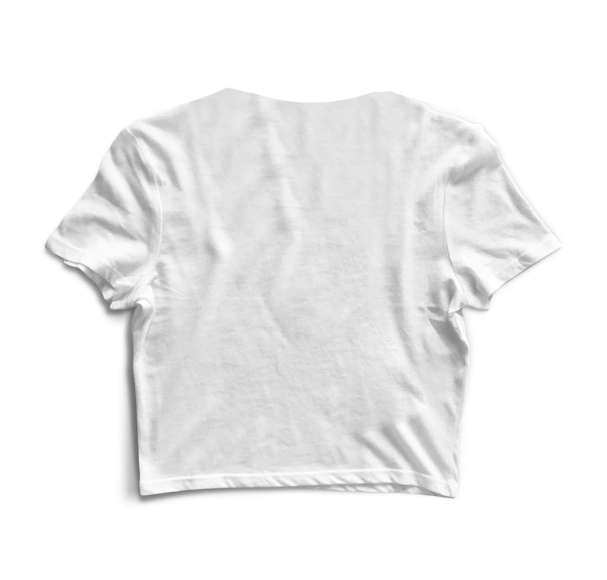 Blusa Cropped Morena Deluxe Foo Fighters Branco