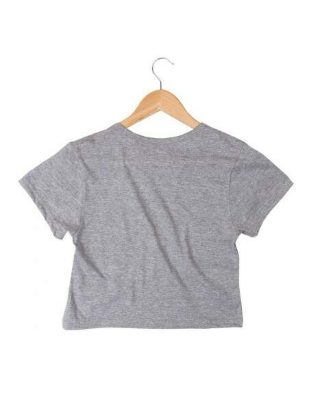 Blusa Cropped Morena Deluxe Humans Arent Real Cinza