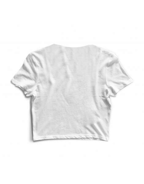 Blusa Cropped Morena Deluxe Red Hot Chili Peppers Branco
