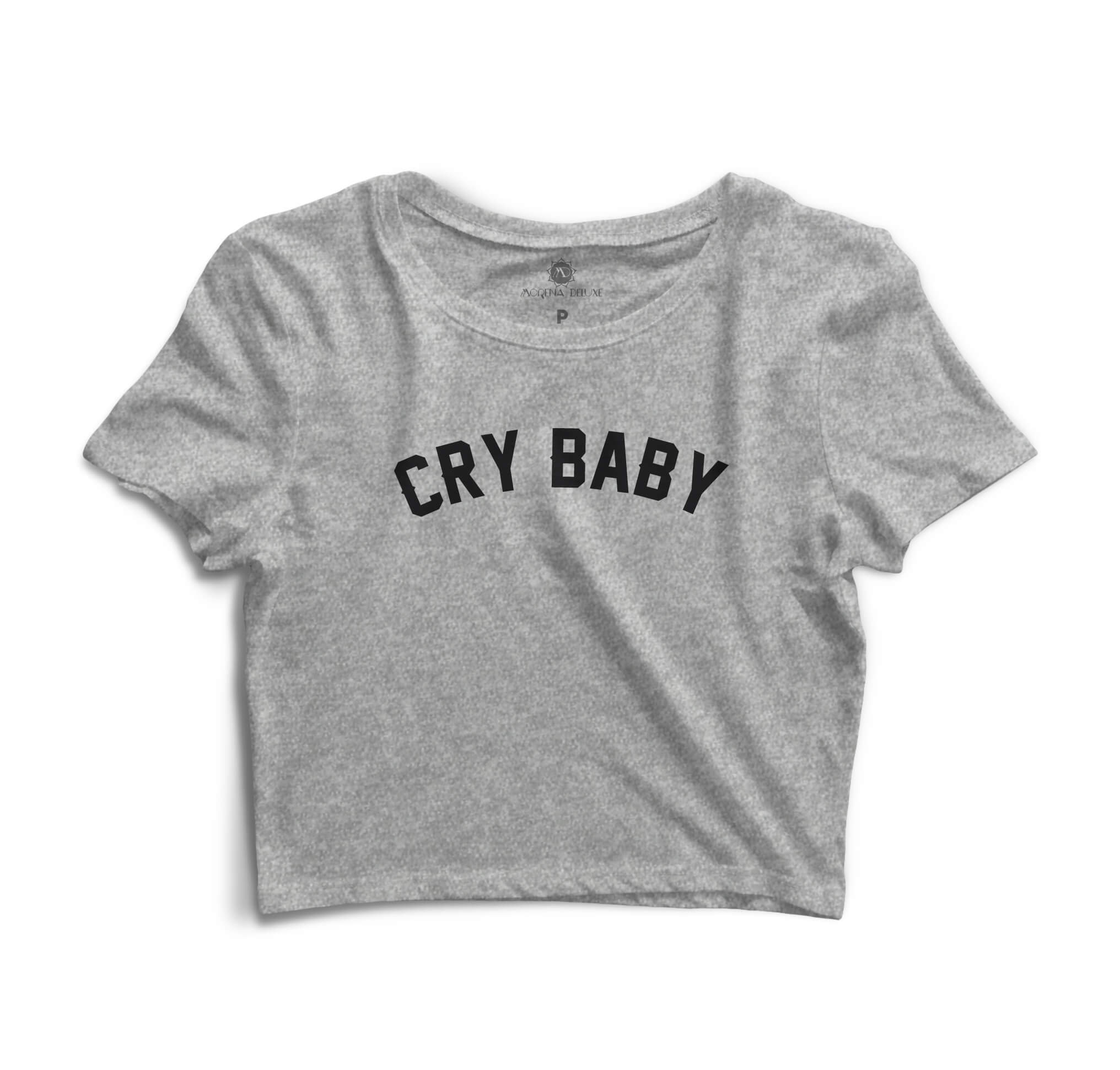 Blusa Cropped Morena Deluxe Cry Baby Cinza