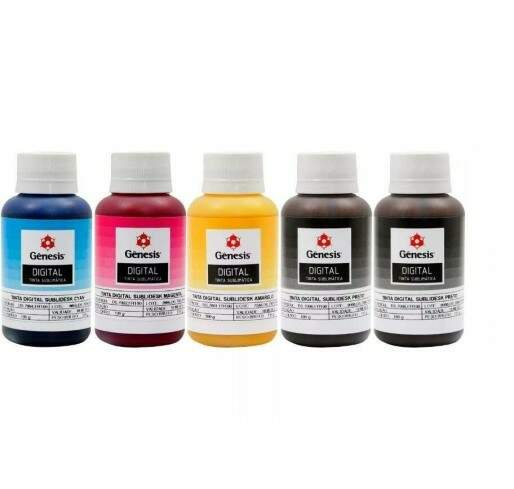 Kit de Tinta Sublimática Gênesis 5 Frascos de 100 ML