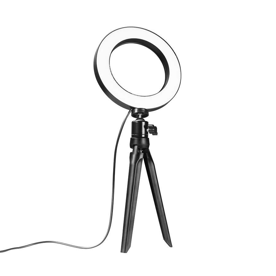 Ring Light de mesa com tripe Luz 16 cm