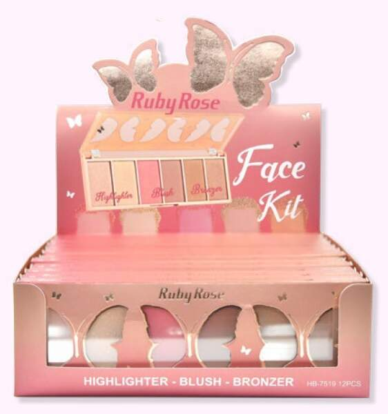 Paleta Face kit Butterfly HB 7519 - Ruby Rose