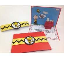 Convite Pop Up Snoopy