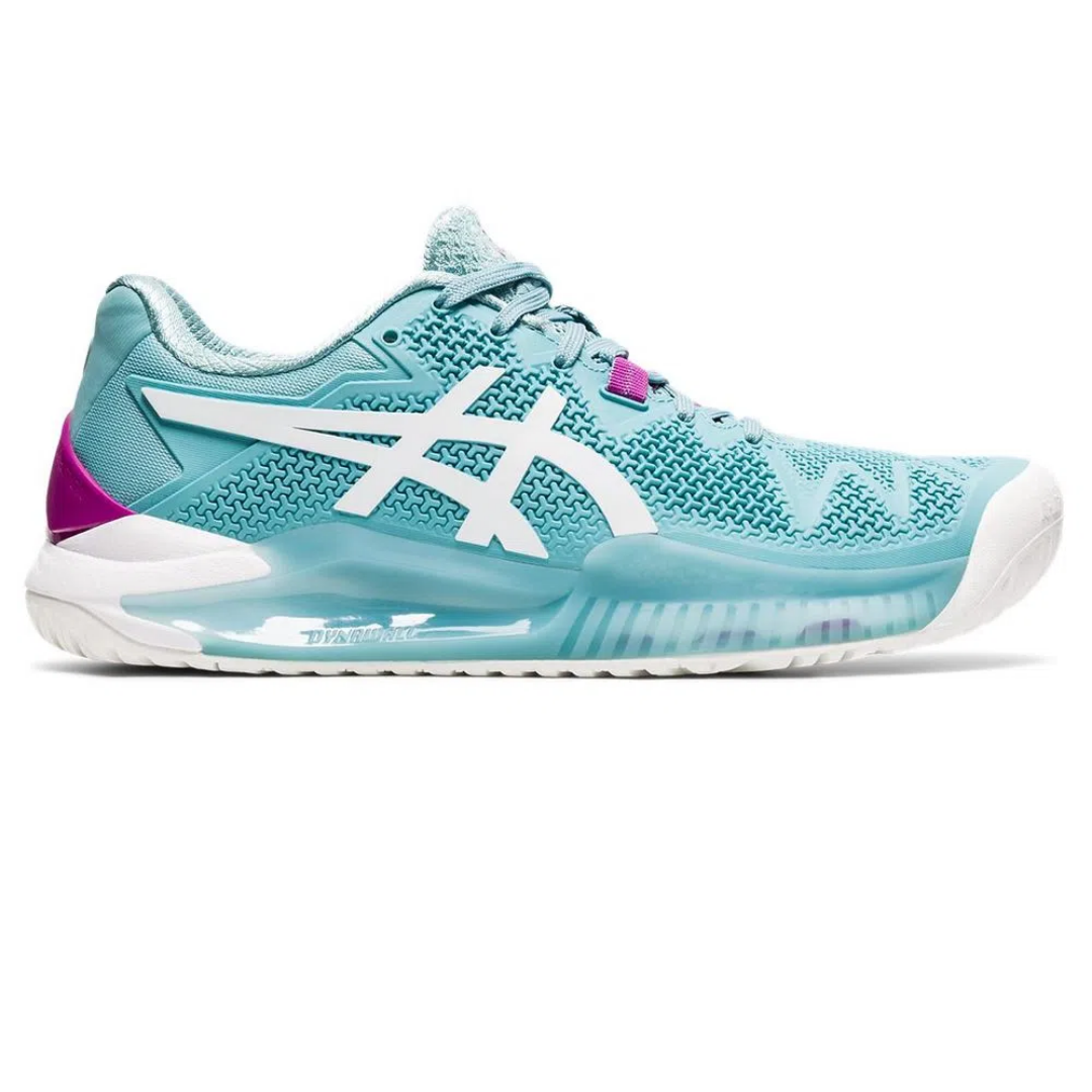 Tênis Asics Gel Resolution 8 All Court Turquesa e Roxo