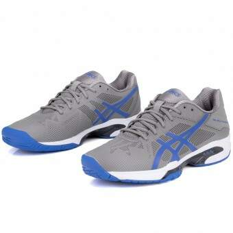 Tênis Asics Gel Solution Speed 3 Cinza e Azul
