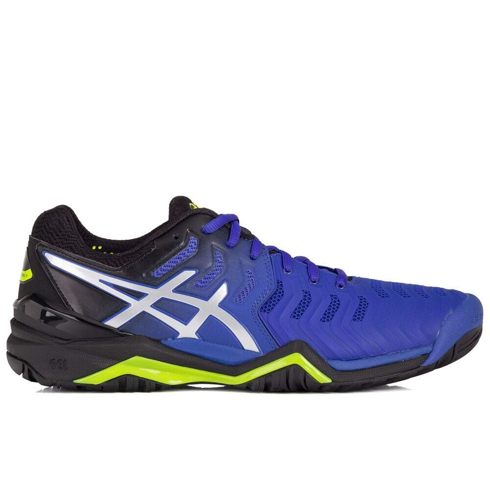 Tênis Asics Gel Resolution 7 Azul Royal e Preto
