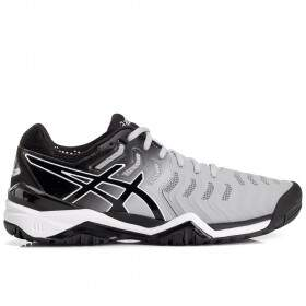 Tênis Asics Gel Resolution 7 All Court Cinza e Preto