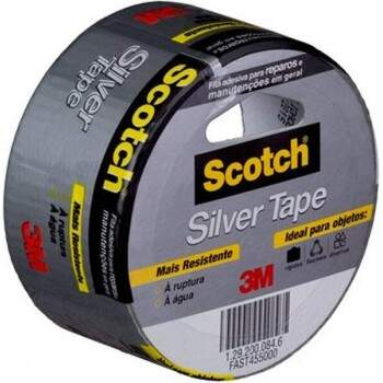 Fita Scotch Silver Tape Cinza 45 mm x 5 m - 3M