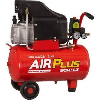 Compressor Air Plus MSI 8,5/25L 2,0CV 127v - Schulz