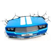 Arandela 3D LED Blue Car - Startec