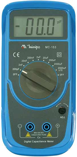 Capacímetro Digital MC-153 Minipa