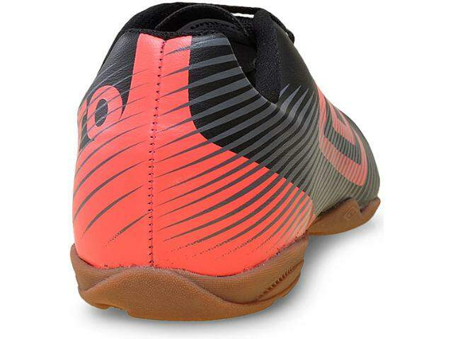TENIS INDOOR SPEED JR-108-PRETO/CORAL/CHUMBO 0F82026