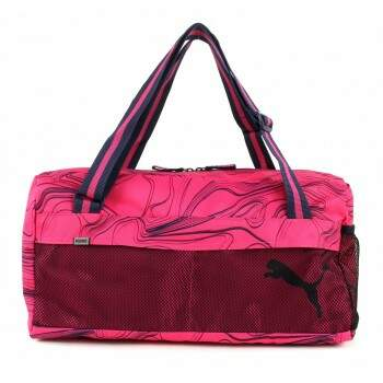 BOLSA MALA MEDIA PUMA FUNDAMENTALS SPORTS BAG II Fuchsia Purpleallover lines