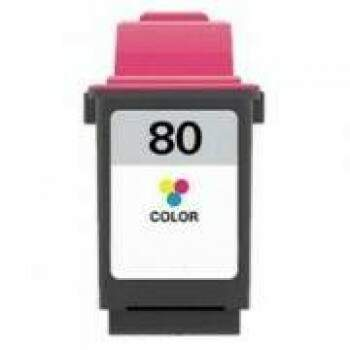 Cartucho Lexmark 80 - 12a1980 - Color - Remanufaturado (24 Ml)