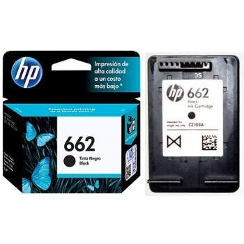 Cartucho Hp 662 - Cz103ab - Preto / Black - Original (2 Ml)