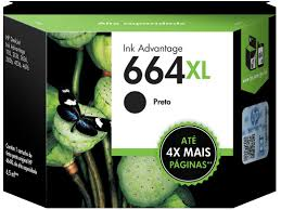 Cartucho Hp 664 Xl / 664xl - F6v31ab - Preto / Black Original (8,5 Ml)