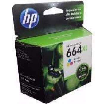Cartucho Hp 664 Xl / 664xl - F6v30ab - Color / Colorido - Original (8 Ml)