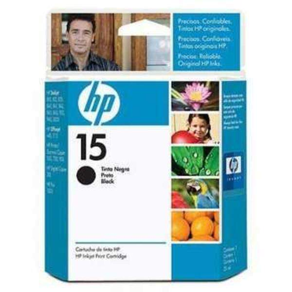 Cartucho Hp 15 - C6615nl / c 6615nl - Preto - Original (25 Ml)