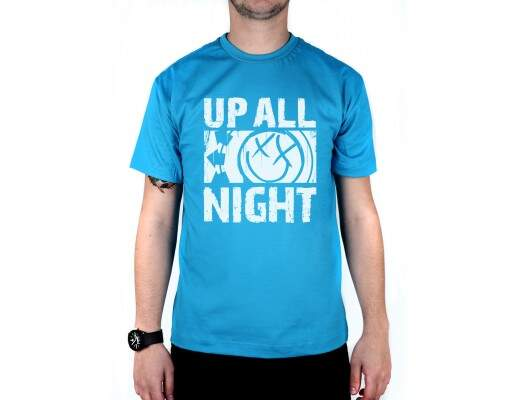 Camiseta Up All Night Turquesa