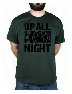 Camiseta Up All Night Musgo
