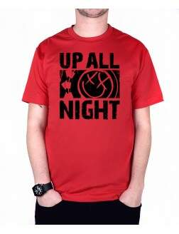 Camiseta Up All Night Vermelho