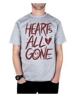 Camiseta Hearts All Gone Cinza Mescla