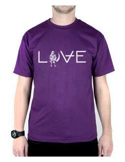 Camiseta Love Roxo