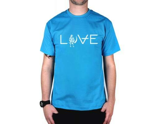 Camiseta Love Turquesa