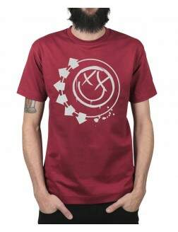 Camiseta Smiley Vinho