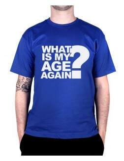 Camiseta Whats My Age Azul