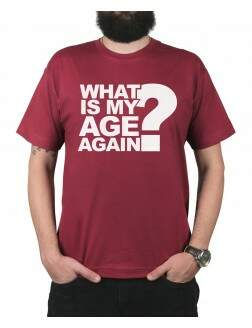 Camiseta Whats My Age Vinho
