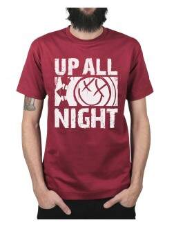 Camiseta Up All Night Vinho