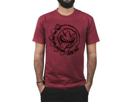 Camiseta Smile Hungry Vinho