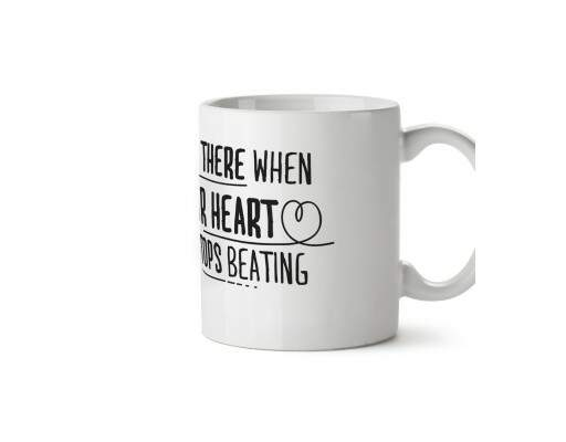 Caneca When Your Heart Stops Beating Branca