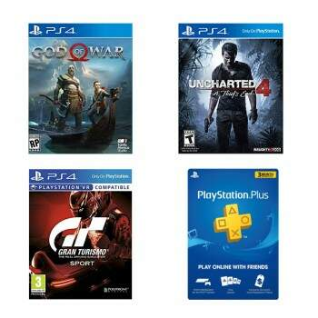 God Of War 4 + Uncharted 4 + Gran Turismo Sport + PSN 3 Meses Grátis - PS4