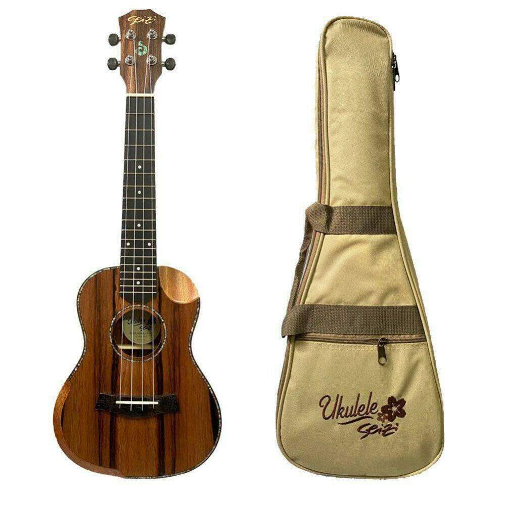 Ukulele Seizi Bora Bora Crush Concert ACS Bag Ebony 10360306