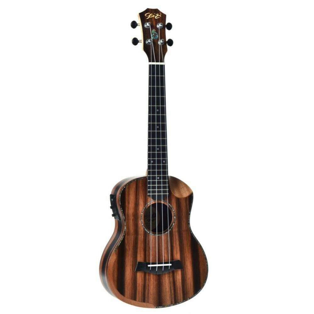 Ukulele Seizi Bora-Bora Crush Tenor Elétr Bag Ebony 10360311