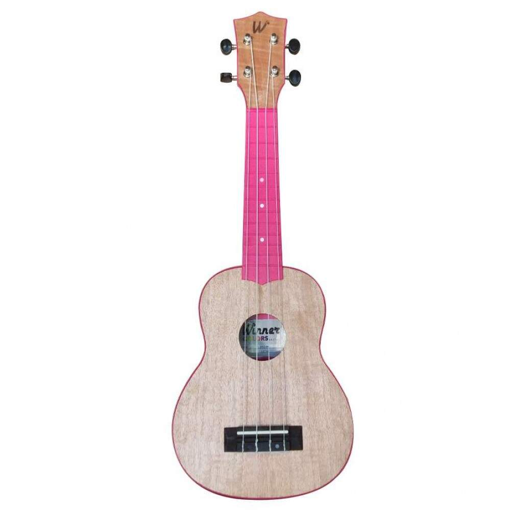 Ukulele Soprano 21 Abs Flamed Okume Pink C/ Capa Colors