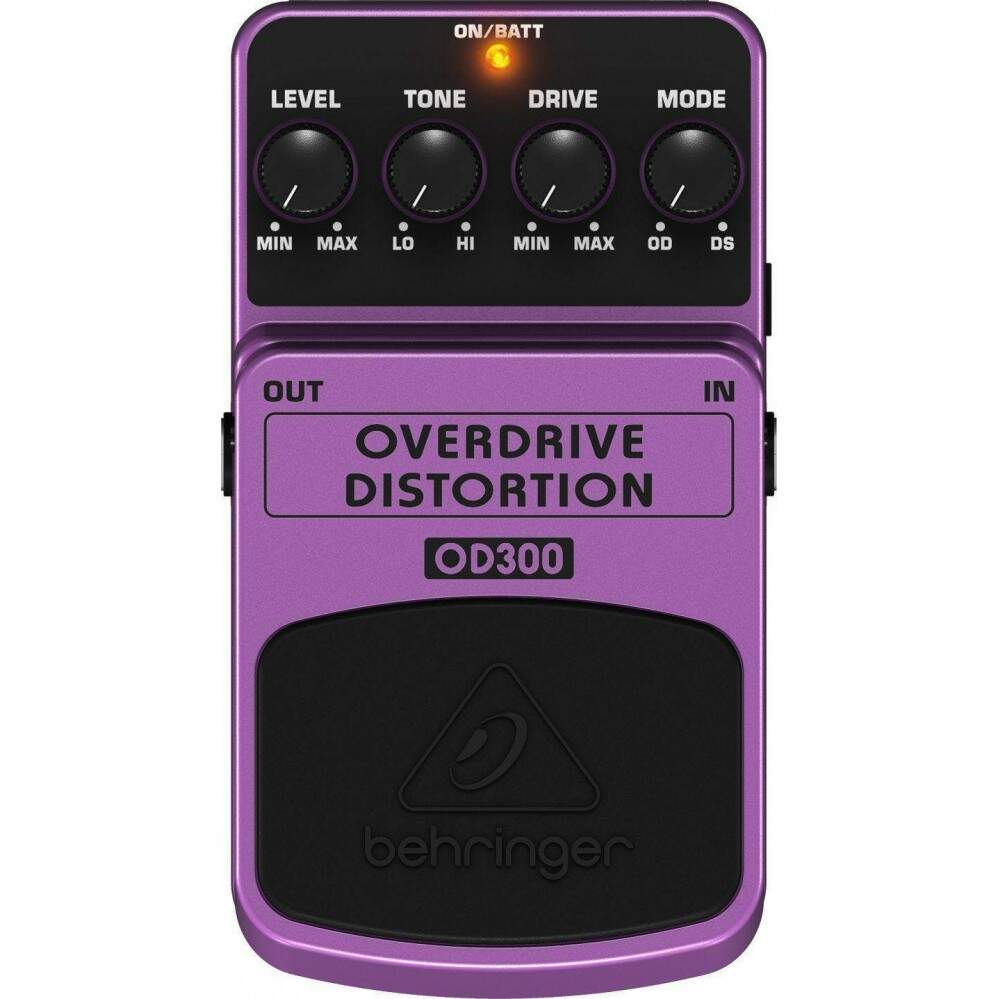 Pedal Behringer Guitarra Overdrive Distortion OD300