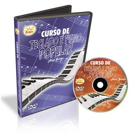 Dvd Edon Curso de Teclado e Piano Popular Vol 5