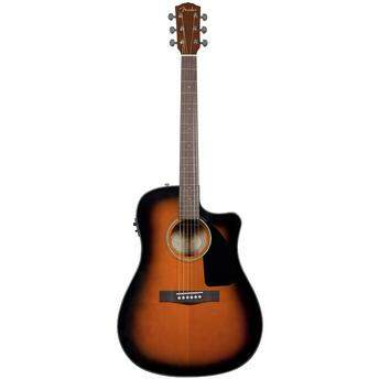 Violão Fender Dreadnought com Case New CD60CE Brown Sunburst 096 1536
