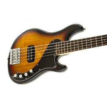 Contra Baixo Fender 030 1500 Squier Deluxe Dimension V Active RW Sunburst.