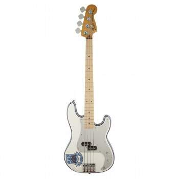 Contra Baixo Fender 014 1032 Sig Series Steve Harris Olympic White Stripe.
