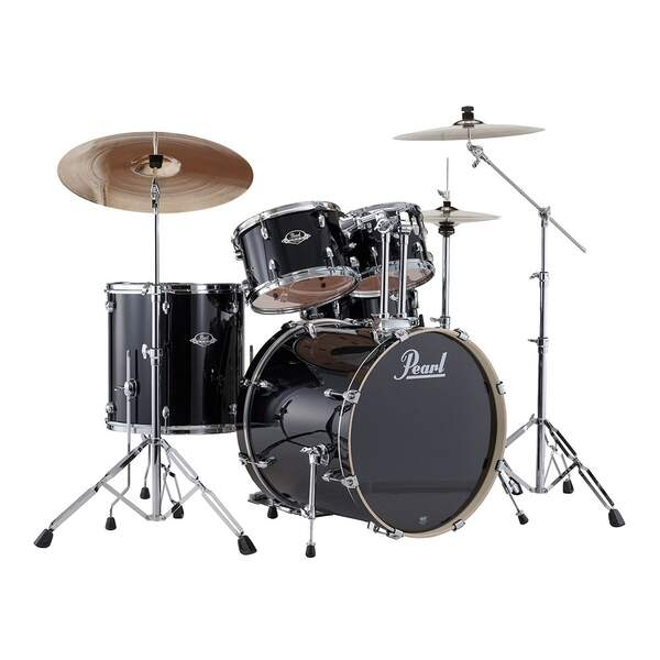 Bateria Pearl Export EXX725SP/Cor Jet Black ShellPack