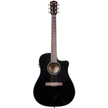 Violão Fender Dreadnought com Case New CD60CE BK 096 1536