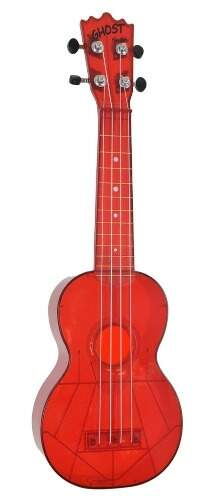 Ukulele Akahai Ghost Transparent RED