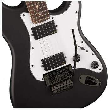 Guitarra Fender Squier 037 0327 Contemporary Strato Floyd Rose 510 Flat Black