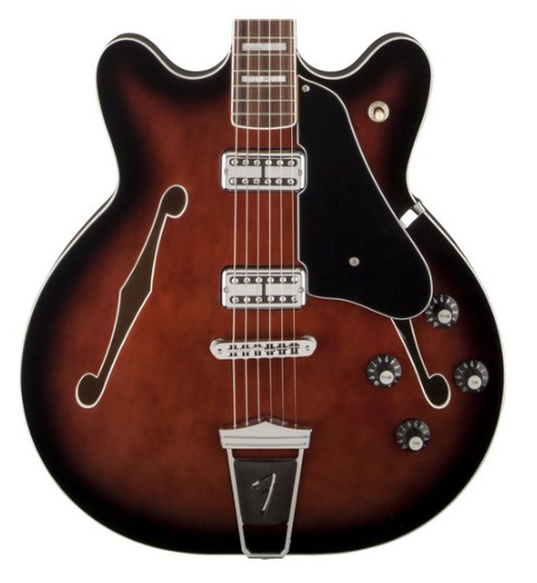 Guitarra Fender Modern Player Coronado 024 3000 561 Black Cherry Burst Semi-Acústica